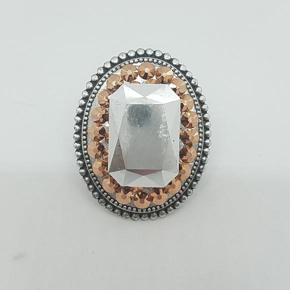 GASOLINE GLAMOUR Jewelry - Rosewater rhinestone fancy stone ring sample